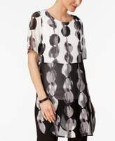 Alfani Printed Colorblocked Tunic, Created for Macy's