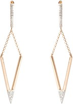 A B Davis 9ct Gold Diamond Triangular Drop Earrings, Rose Gold