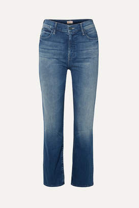 Mother The Dutchie Cropped High-rise Straight-leg Jeans - Mid denim