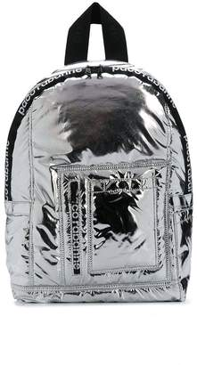 Paco Rabanne metallic padded backpack