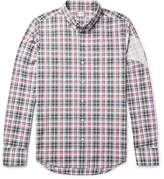 Moncler Gamme Bleu Slim-fit Button-down Collar Checked Cotton Shirt