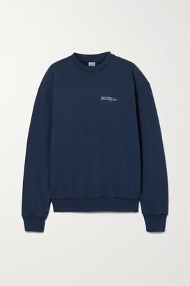 Sporty & Rich Rizzoli Printed Cotton-jersey Sweatshirt - Navy