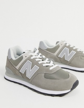 New Balance 574 trainers in dark grey suede