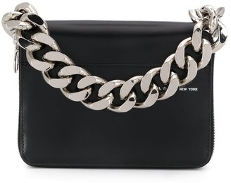 Kara Faux-Leather Chain-Link Clutch