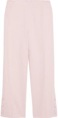 Lela Rose Cropped Wool-blend Crepe Straight-leg Pants
