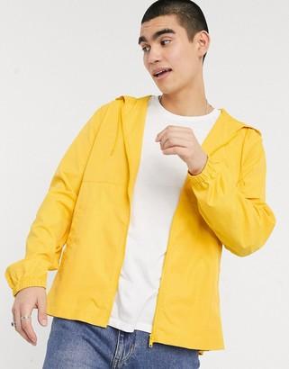 ASOS DESIGN packable bumbag windbreaker in yellow