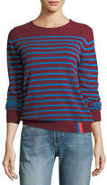 Kule Sophie Crewneck Striped Cashmere Sweater