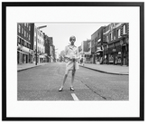 Sonic Editions Twiggy on the King's Road (Framed)