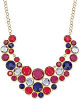 INC International Concepts Gold-Tone Multi-Stone Statement Necklace, Only at Macy's