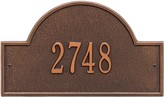 The Well Appointed House Personalized Arch Marker Standard Wall Plaque-Available in a Variety of Finishes