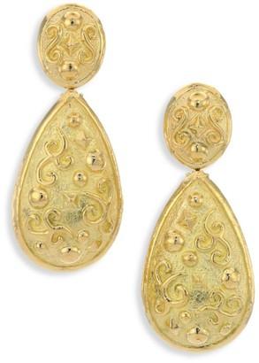 Katy Briscoe Fete 18K Yellow Gold Drop Earrings