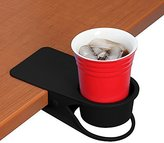 Drinking Cup Holder Clip - Home Office Table Desk Side Huge Clip Water Drink Beverage Soda Coffee Mug Holder Cup Saucer Clip Design, Black by YOY