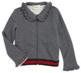 Girl's Gucci Zip Sweatshirt