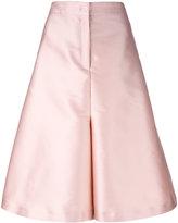No.21 wide leg short pants - women - Polyester/Silk - 40