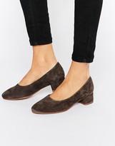 Vagabond Jamilla Dark Gray Suede Block Heel Shoe