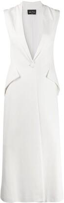 Andrea Ya'aqov Rear-Vent Long-Line Waistcoat