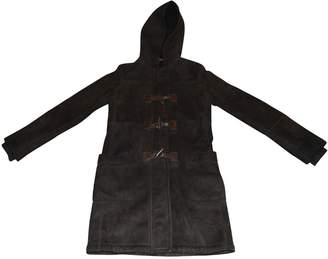 Prada Brown Suede Coat for Women Vintage