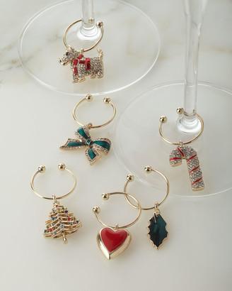 Joanna Buchanan Christmas Wine Charms, Set of 6