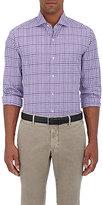 Isaia Men's Grid-Checked Shirt-WHITE