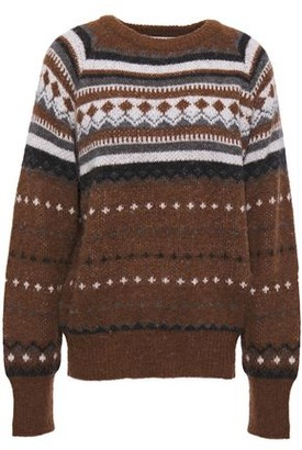 RE/DONE Brushed Jacquard-knit Sweater