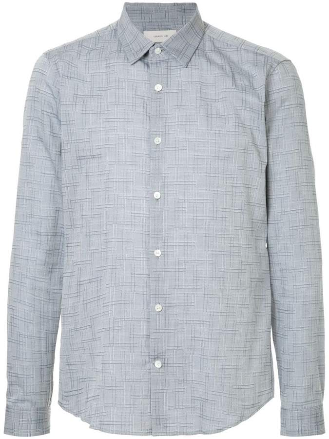 Cerruti tonal checked shirt