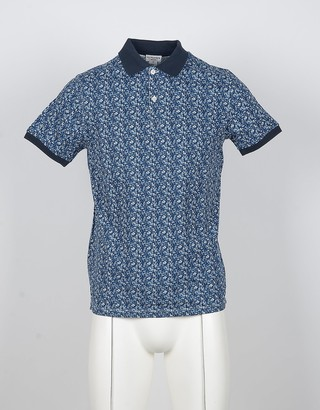 U.S. Polo Assn. Blue Printed Cotton Mens Polo Shirt