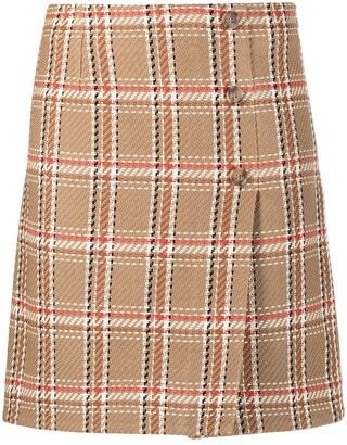 P.A.R.O.S.H. check-pattern A-line skirt
