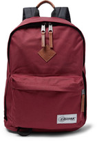 Eastpak Out Of Office Leather-trimmed Canvas Backpack - Burgundy