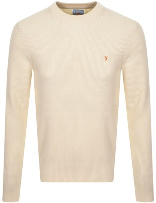Farah Horace Knit Jumper Cream
