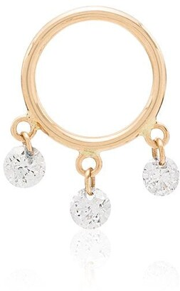 PERSÉE 18kt yellow gold Boheme diamond hoop earring