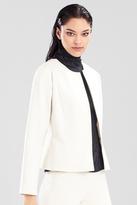 Josie Natori Double Knit Jersey Short Seam Jacket