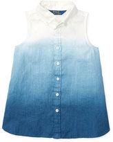 Ralph Lauren 2-6X Dip-Dyed Linen Shirt