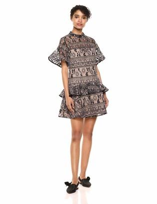 Elliatt Women's Apparel Women's Spark Short Sleeve LACE FIT & Flare Party Dress
