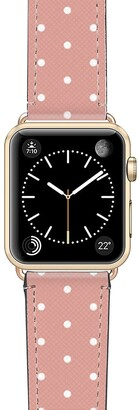 Casetify Polka Dots Saffiano Faux Leather Apple Watch(R) Strap