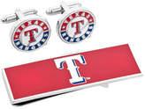Cufflinks Inc. Men's Texas Rangers Cufflinks and Money Clip Gift Set