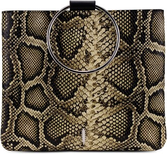 THACKER Python Embossed Leather Pouch