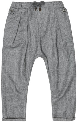 BRUNELLO CUCINELLI KIDS Checked virgin wool pants