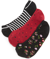 Kate Spade Bloom Floral 3 Pack Sock Set