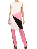 Roksanda Ilincic Georgette & Double Wool Crepe Dress