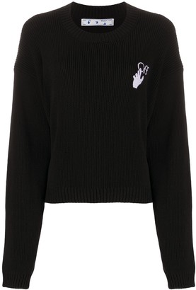 Off-White New Logos knitted jumper