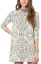 O'Neill Jovana Tribal Print Cowlneck Sheath Dress