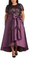 Thumbnail for your product : R & M Richards Plus Size High-Low Gown