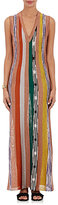 Missoni Women's Striped V-Neck Fitted Gown-PINK