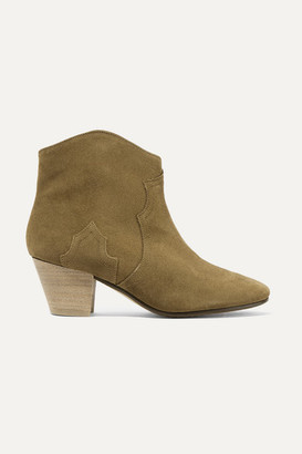 Isabel Marant Dicker Suede Ankle Boots - Brown