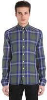 Eton Slim Fit Plaid Cotton Button Down Shirt