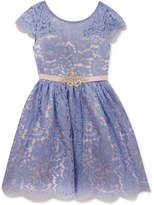 Rare Editions Allover Lace Party Dress, Toddler Girls, Created for Macy's