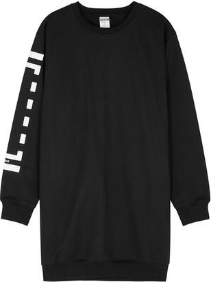 Wolford Black Logo Jersey Sweatshirt Dress