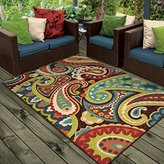 "Orian Rugs Indoor/Outdoor Paisley Monteray Multi Area Rug (5'2"" x 7'6"")"