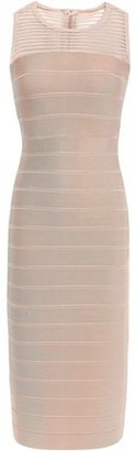Herve Leger Tulle Paneled Bandage Dress