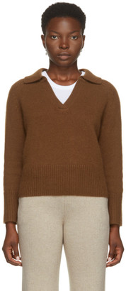 Arch4 Brown Cashmere Clifton Gate Polo Sweater